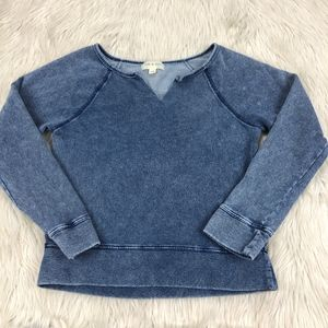 Cloth & Stone Blue Sun Washed Knit Top